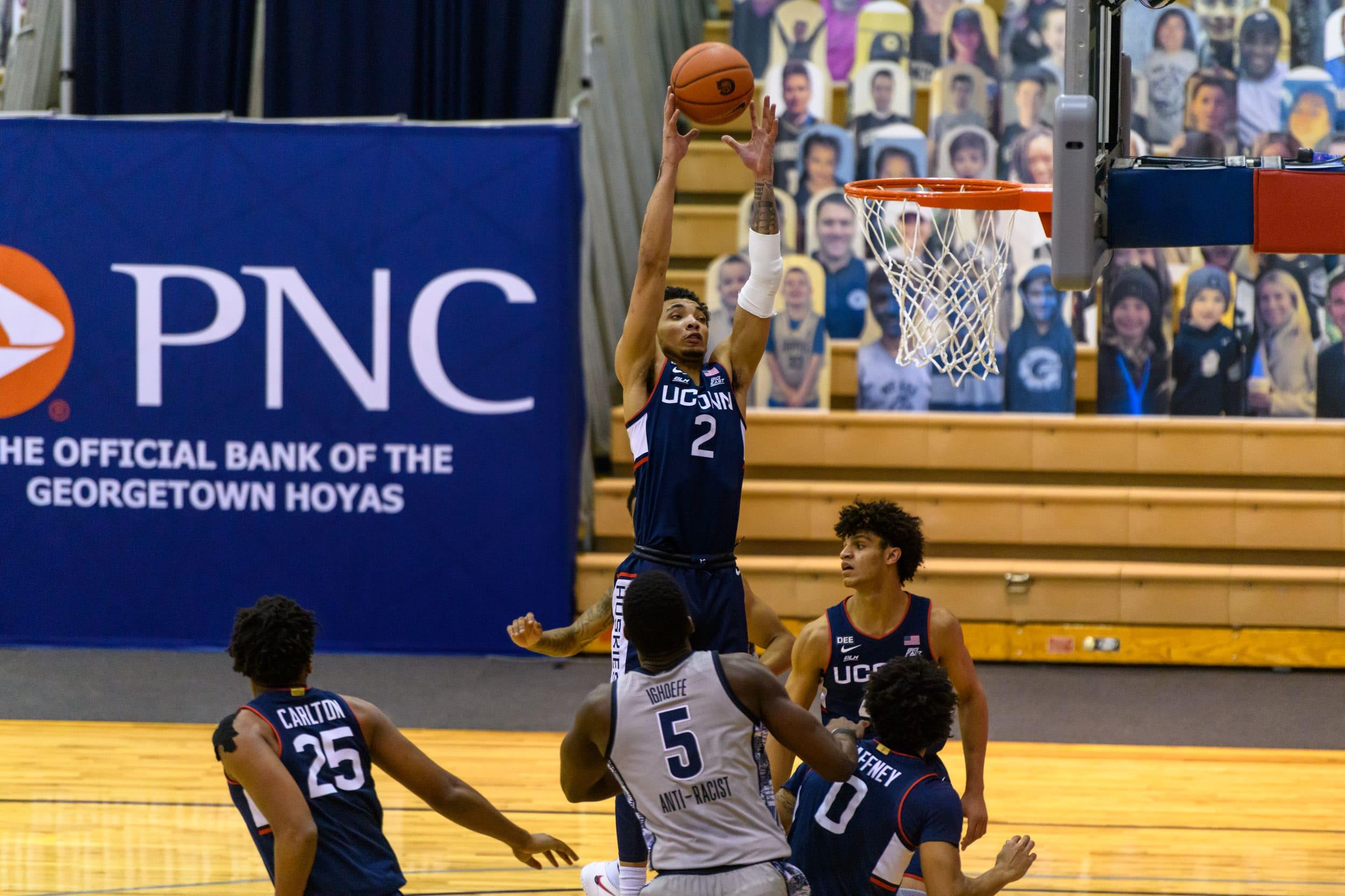 UConn Basketball Beats Georgetown