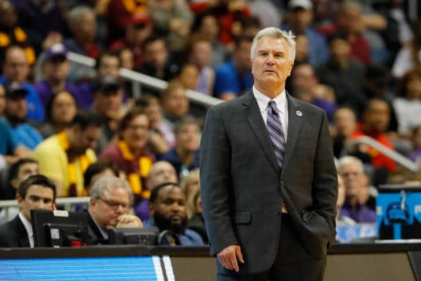 Bruce Weber coaches from the sidelines