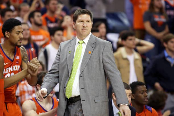 Clemson basketball coach Brad Brownell.